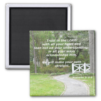 Proverbs 3: 5-6 2 inch square magnet