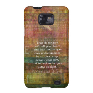Proverbs 3 5-6 Bible Quote about Trust Galaxy SII Covers