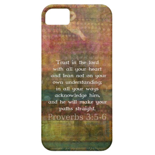 Proverbs 3:5-6 Bible Quote about Trust iPhone SE/5/5s Case