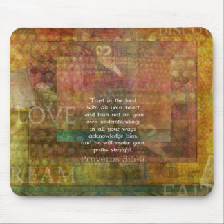 Proverbs 3:5-6 Bible Quote about Trust Mouse Pad