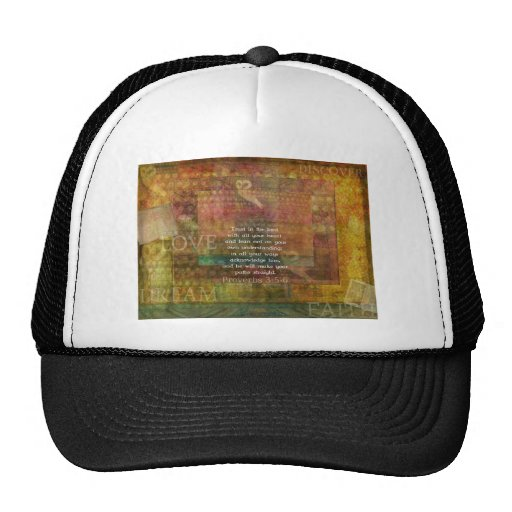 Proverbs 3:5-6 Bible Quote about Trust Trucker Hat