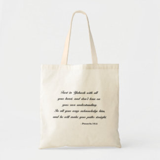 Proverbs 3:5-6 | Bible Quote Tote Bag