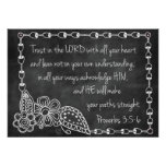 Proverbs 3:5-6 Chalkboard Style Poster
