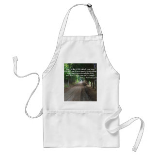 Proverbs 3:5-6 Christian Bible Verse Poster Adult Apron