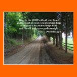 Proverbs 3:5-6 Christian Bible Verse Poster Post Card
