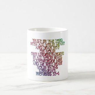 Proverbs 3:5-6 coffee mug
