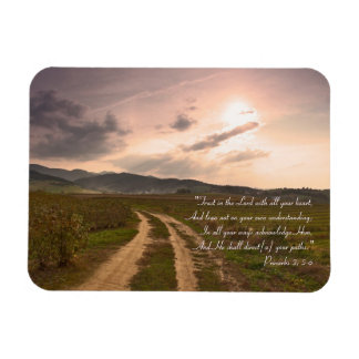 Proverbs 3; 5-6 - Inspirational Magnet