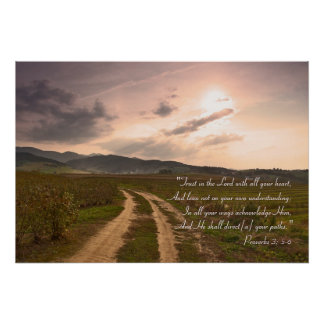 Proverbs 3; 5-6 - Inspirational Poster