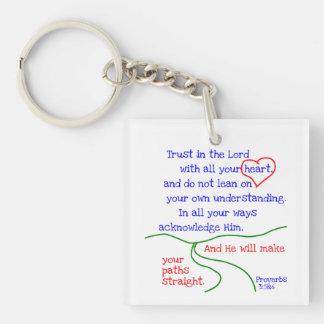 Proverbs 3:5&6 Keychain