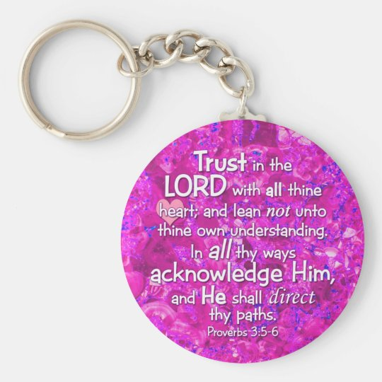 Proverbs 3:5-6 KJV Trust in the Lord Keychain