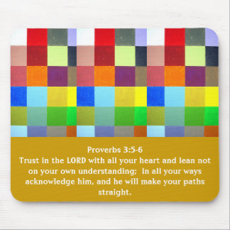 Proverbs 3:5-6 mouse pad