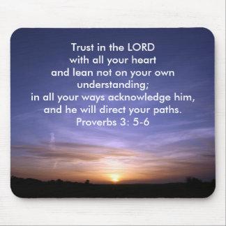 Proverbs 3: 5-6 Mousepad