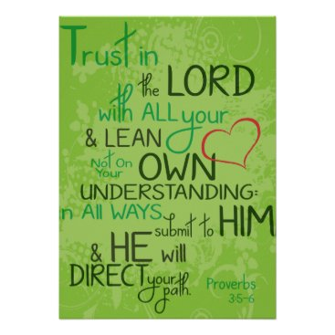 Valentines Themed Proverbs 3:5-6 poster