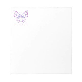 Proverbs 3:5,6 Scripture Inspiration Butterfly Notepad