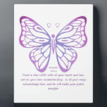 "Proverbs 3:5,6 Scripture Inspiration Butterfly Plaque<br><div class=""desc"">Proverbs 3:5, 6 Scripture Inspiration Butterfly Pink Purple Blue</div>"
