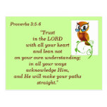 Proverbs 3:5-6 Scripture Memory Card