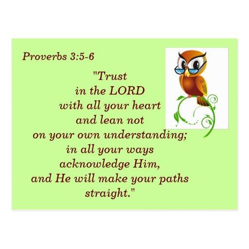 Proverbs 3 5 6 Scripture Memory Card Zazzle