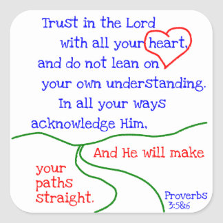 Proverbs 3:5&6 Stickers