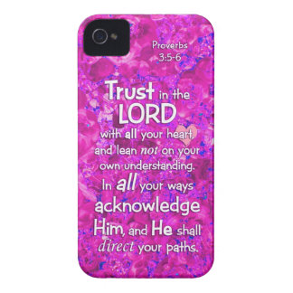 Proverbs 3:5-6 Trust in the Lord Bible Verse Quote Case-Mate iPhone 4 Case