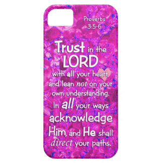 Proverbs 3:5-6 Trust in the Lord Bible Verse Quote iPhone SE/5/5s Case