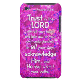Proverbs 3:5-6 Trust in the Lord Bible Verse Quote iPod Case-Mate Case