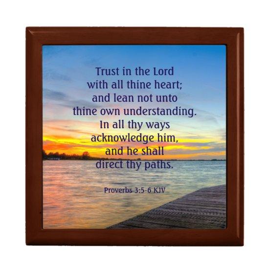 Proverbs 3:5-6 Trust in the LORD Keepsake Box