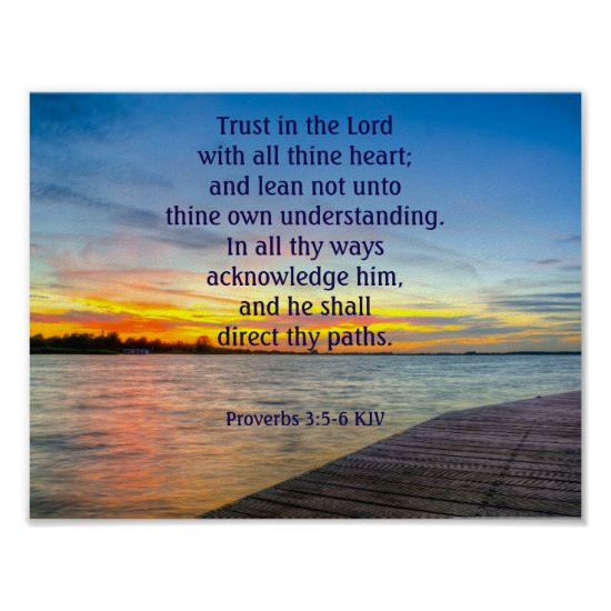 Proverbs 3:5-6 Trust in the LORD Poster