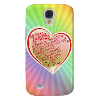 PROVERBS 3:5-6 TRUST IN THE LORD W ALL YOUR HEART GALAXY S4 COVER