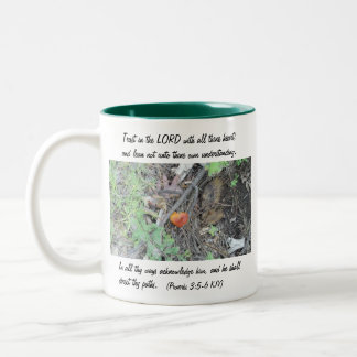 Proverbs 3:5-6 Two-Tone coffee mug