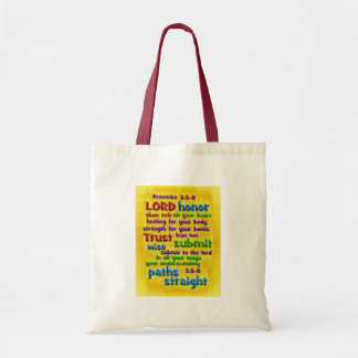 Proverbs 3 5-8 Yellow Foil Tote Bags