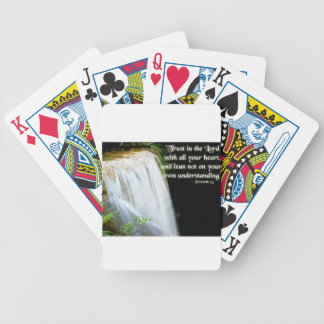 Proverbs 3:5 bicycle playing cards