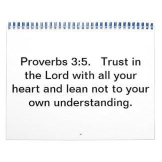 Proverbs 3:5 Calendar