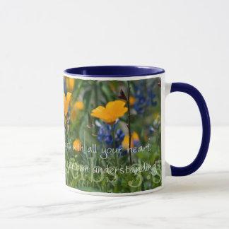 Proverbs 3:5 California Poppies Coffee Mug