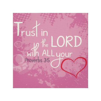 Proverbs 3:5 canvas print