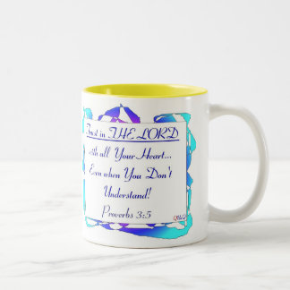 Proverbs 3.5 /  Double Sides Two-Tone Coffee Mug