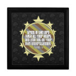 Proverbs 3:5 (Gold) Large Tile Gift Box