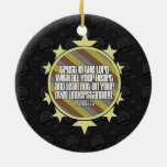 Proverbs 3:5 (Gold) Ornament