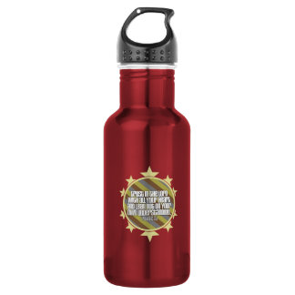 Proverbs 3:5 (Gold) Stainless Steel Water Bottle
