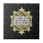 Proverbs 3:5 (Gold) Tile