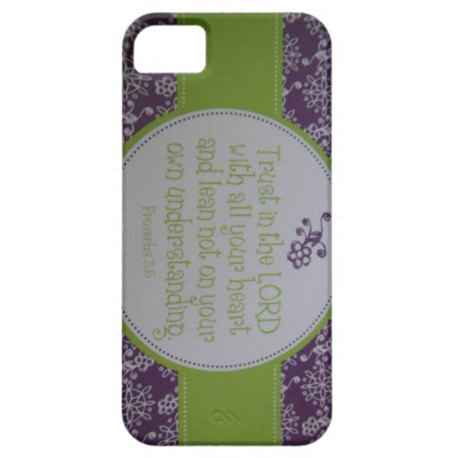 Proverbs 3:5 iPhone 5 Case