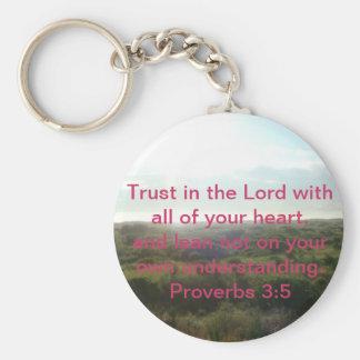 Proverbs 3:5 Key Chain