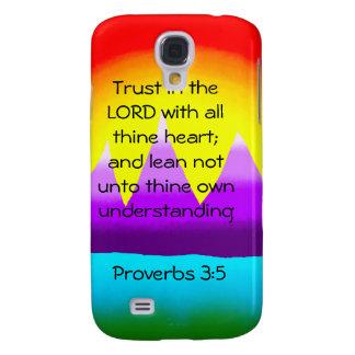 Proverbs 3 5 Mountains iphone 3 case