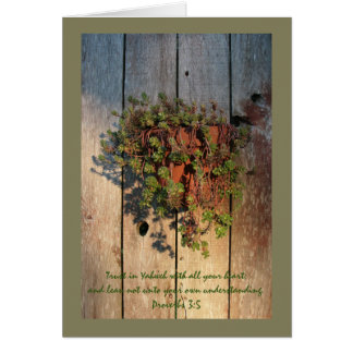 Proverbs 3:5 on Succulents Card
