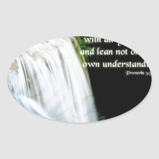 Proverbs 3:5 oval sticker