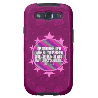 Proverbs 3:5 (Pink) Samsung Galaxy S3 Case