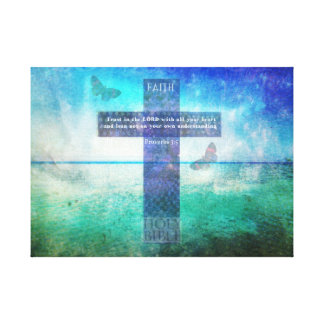 Proverbs 3:5 Trust in the Lord with all your heart Canvas Print