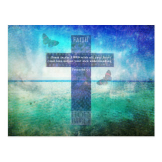 Proverbs 3:5 Trust in the Lord with all your heart Postcard