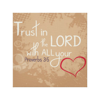 Proverbs 3:5 wrapped canvas