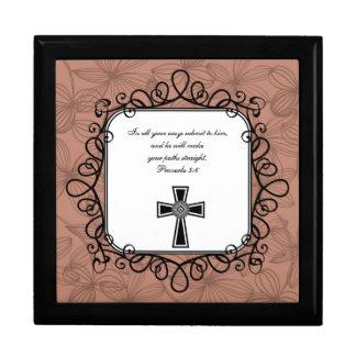 Proverbs 3:6 Bible Verse Keepsake Box
