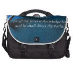 Proverbs  3:6 commuter bag